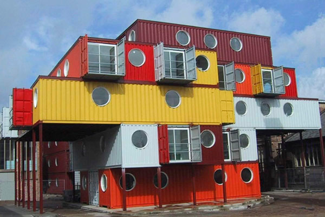 Design Example(s) of Office-building-containers. {Contoh Design Container/Kontainer/Kontener-gedung-kantor.}